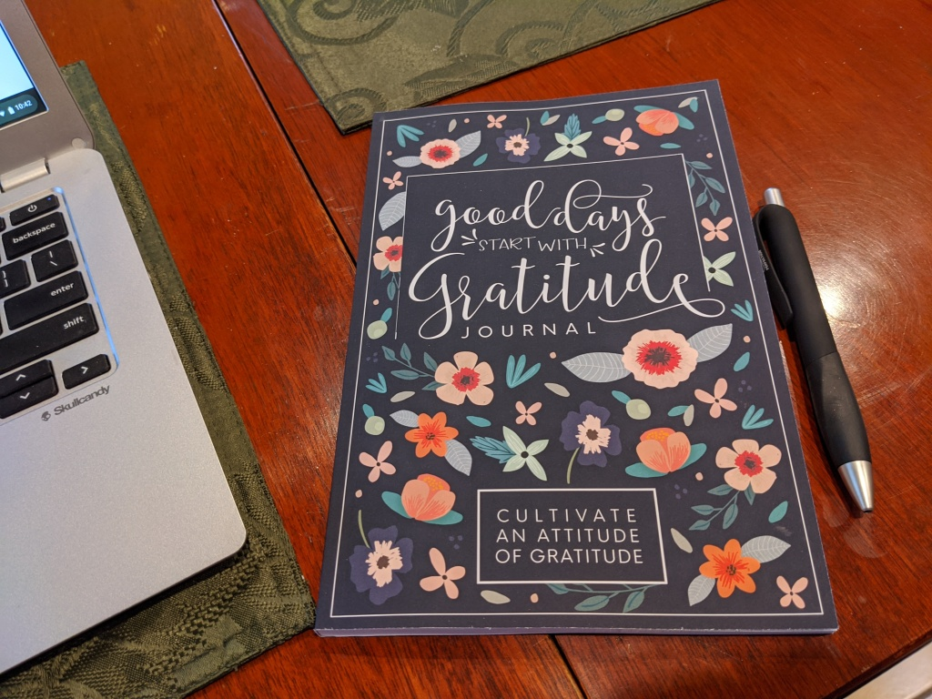 The Good Days Start with Gratitude Journal is filled with spaces to use daily to cultivate an attitude of gratitude.